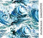 Sea Wave Seamless Pattern....