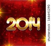 stylish happy new year holiday... | Shutterstock .eps vector #166641290