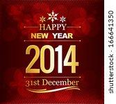 happy new year vector design... | Shutterstock .eps vector #166641350