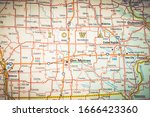 iowa state on the map   Shutterstock . vector #1666423360
