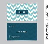 business card template ... | Shutterstock .eps vector #166642709