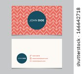 business card template ... | Shutterstock .eps vector #166642718