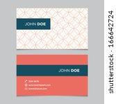 business card template ... | Shutterstock .eps vector #166642724