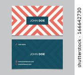business card template ... | Shutterstock .eps vector #166642730