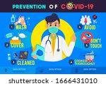 prevention of covid 19... | Shutterstock .eps vector #1666431010