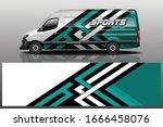 van car wrapping decal design | Shutterstock .eps vector #1666458076