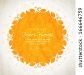 elegant indian ornamentation on ... | Shutterstock .eps vector #166646759