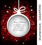 christmas greeting card with... | Shutterstock .eps vector #166649540