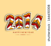 happy new year 2014 celebration ... | Shutterstock .eps vector #166650308