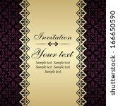 floral invitation card.  | Shutterstock .eps vector #166650590