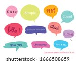 hand drawn set of colorful... | Shutterstock .eps vector #1666508659