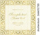 floral invitation card.  | Shutterstock .eps vector #166651730