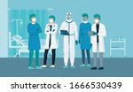 professional doctors and nurses ... | Shutterstock .eps vector #1666530439