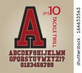 tackle twill alphabet and... | Shutterstock .eps vector #166653563
