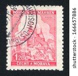 czechoslovakia   circa 1939 ... | Shutterstock . vector #166657886