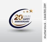 20 years golden happy... | Shutterstock .eps vector #1666581289
