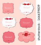 set of different gift cards... | Shutterstock .eps vector #166659839