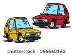 cartoon used car | Shutterstock .eps vector #166660163