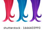 set of colorful strands of hair.... | Shutterstock .eps vector #1666603993