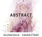 purple ink watercolor design.... | Shutterstock .eps vector #1666627660