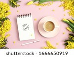 Hello Spring Text On Notebook ...