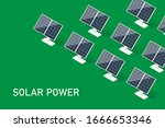 solar power. isometric clean...   Shutterstock .eps vector #1666653346