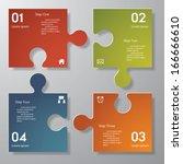 design clean number banners... | Shutterstock .eps vector #166666610