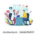 vector illustration female... | Shutterstock .eps vector #1666696819