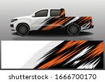truck car wrapping decal design | Shutterstock .eps vector #1666700170