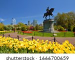 Boston Public Garden In The...