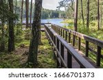 Wooden Walkway Over Lake Suchar ...