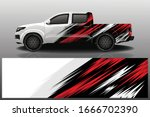 truck car wrapping decal design | Shutterstock .eps vector #1666702390