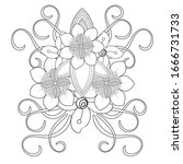 coloring page in line style... | Shutterstock .eps vector #1666731733