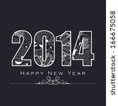 happy new year 2014 celebration ... | Shutterstock .eps vector #166675058