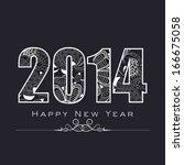 happy new year 2014 celebration ... | Shutterstock .eps vector #166675058