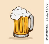 vintage retro beer vector... | Shutterstock .eps vector #1666754779
