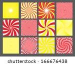 retro vintage hypnotic... | Shutterstock .eps vector #166676438