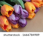 Spring Bouquet Of Fresh Tulips  ...