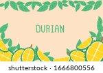 banner durian  background... | Shutterstock .eps vector #1666800556
