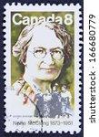 canada   circa 1973 a stamp... | Shutterstock . vector #166680779