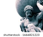 Statue Of The Greek God Atlas...