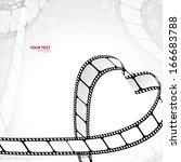 reel of film in the shape of... | Shutterstock .eps vector #166683788