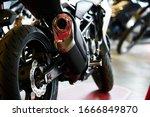 Close Up Shot Of A Motorcycle...