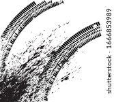 vector print textured tire... | Shutterstock .eps vector #1666853989