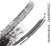 vector print textured tire... | Shutterstock .eps vector #1666854013