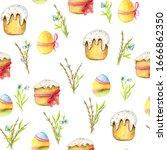 seamless pattern for easter... | Shutterstock . vector #1666862350