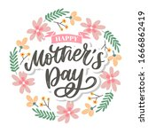 happy mothers day lettering.... | Shutterstock .eps vector #1666862419