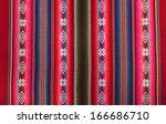 red bolivian pattern | Shutterstock . vector #166686710