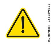 warning sign. exclamation ... | Shutterstock .eps vector #1666895896
