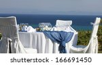 ceremonial table on the coast... | Shutterstock . vector #166691450